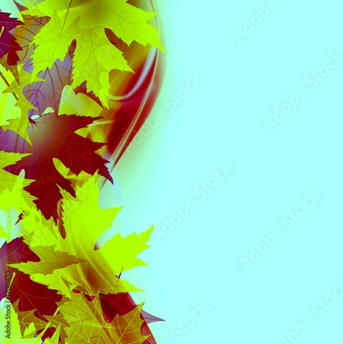 Fototapeta Beautiful Bright Autumn leaves natural background obraz na płótnie