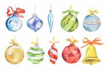 Watercolor Christmas Toys Set....