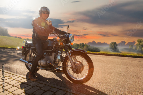 Fotografie, Obraz Classic Motorbike Rider