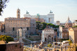 Look from the hill at Monument of Vittorio Emanuele II, Capitoli