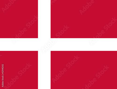 Denmark National flag, dannebrog, Danish flag, National flag of denmark standard Poster