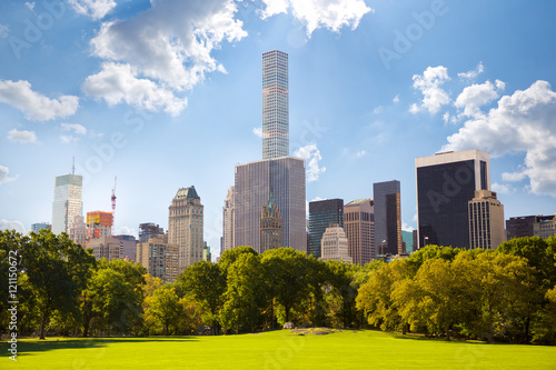 Stampa su Tela Central Park and Manhattan skyscrapers in New York City