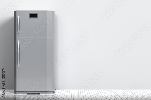 grey fridge with blank space