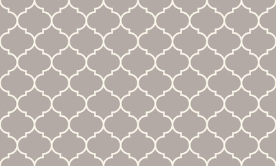Panel Szklany Seamless anthracite gray wide moroccan pattern vector