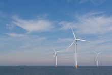View Of Windturbines In The Du...