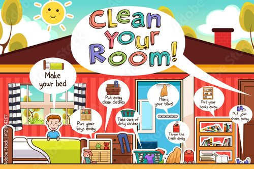 Tela Kids Cleaning Room Chores Infographic