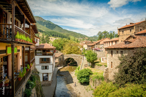 rural village of potes at cantabria, spain