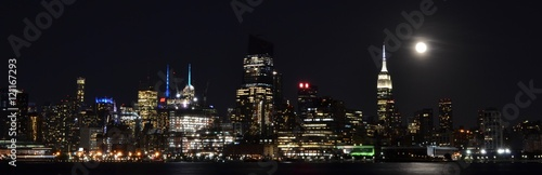 Foto op Canvas New York NYC Skyline at Night