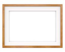Wooden Frame. Flat Profile. 3D...