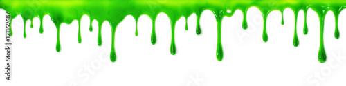 Fototapeta Dripping slime banner