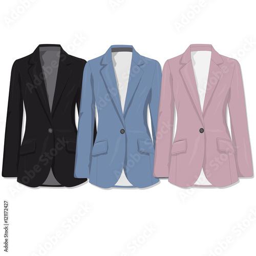 Jacket. Clothes collection.Vector. Canvas Print