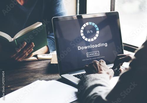Fotografía  Downloading Online Website Technology Concept