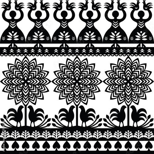 bezbarwny-wzor-polskiej-sztuki-ludowej-czarny-wzor-wycinanki-kurpiowskie-kurpie