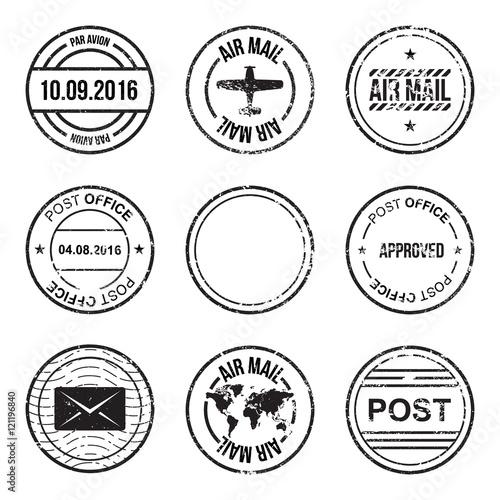 Fotografía  Set of post mark, stamps