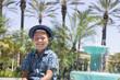 カリフォルニアの風景と男の子