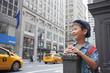 ニューヨークの風景と子供