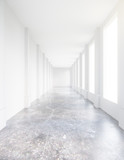 Fototapeta Perspektywa 3d - Empty concrete corridor
