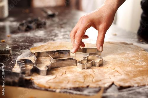 Fototapeta Domowe pierniczki.Świąteczne domowe wypieki. obraz