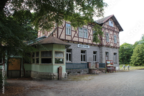 Foto auf AluDibond Bahnhof Der Bahnhof Mägdesprung