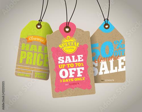 Fotografía  Sale Tags Design