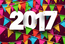 2017 New Year Pink Background.