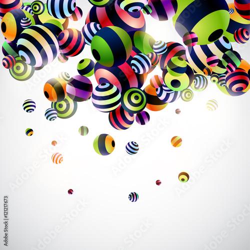 Zdjęcie XXL Tło z kolorowymi 3D piłkami