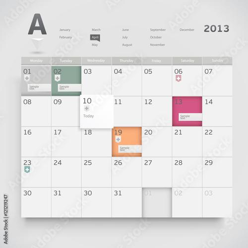 Fototapeta Web calendar obraz na płótnie