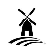 Mill Icon Illustration