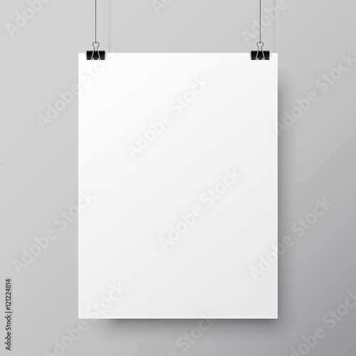 Blank White Poster Template Wall mural