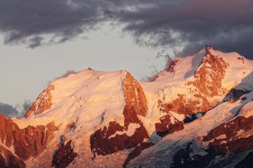 Obraz na Szkle Góry Mont blanc