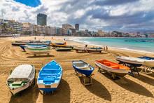 Boats On The Beach - Las Palma...