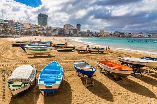Boats On The Beach - Las Palmas,Gran Canaria,Spain