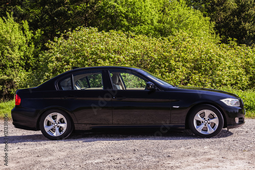 Photo  Side view BMW sedan