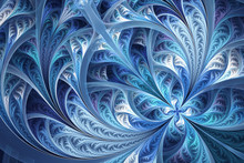 Abstract Winter Fractal Flower...