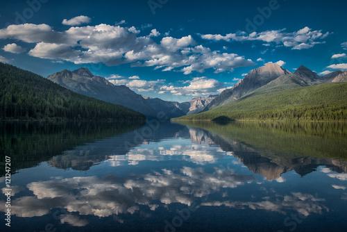 Valokuva  Clouds over Bowman Lake, Glacier National Park, Montana