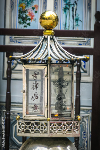 Chinese Altar Burning a Candle Poster