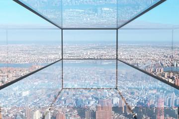 Panel Szklany Na szklane drzwi i okna Transparent glass room