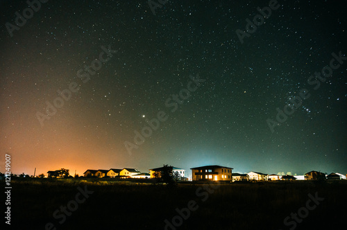Foto op Plexiglas Nacht Suburban residential houses at night