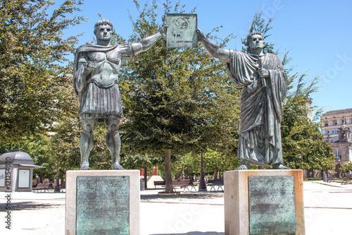 Römer Statue Lugo Galicien (Galicia) Spanien (España) Costa da Morte