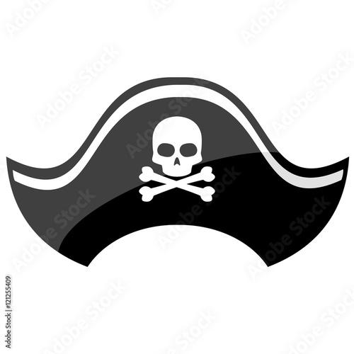 Fotografie, Obraz Pirate hat isolated on white background