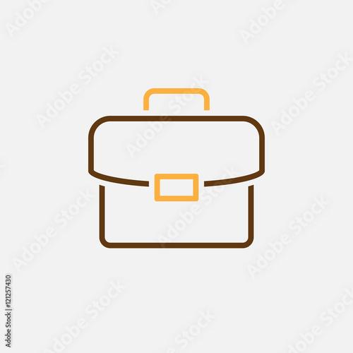 briefcase line icon, colorful portfolio outline vector illustration, linear pict Canvas Print