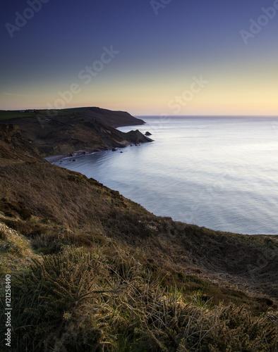 Sunset at Widemouth Bay Cornwall Canvas Print
