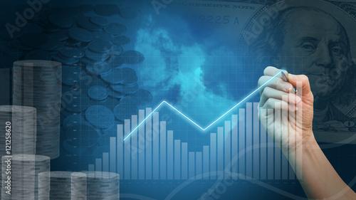 Fotografía  Graphs of financial analysis