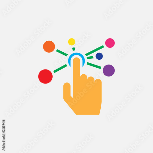 Photo  interactive interface solid icon, colorful vector illustration, pictogram isolat
