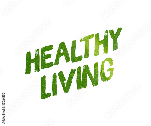 Healthy living word concept on white background - Buy this