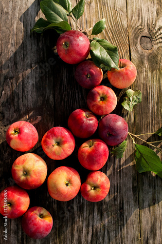 Poster Apples on the table