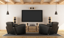 Home Cinema System With Vintag...