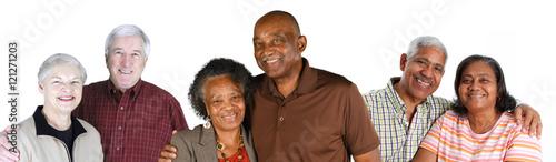 Fototapeta Group of Elderly Couples obraz