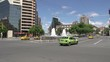 Cars driving around the Water Fountain dancers called 'Forgiveness' in Cordoba Argentina