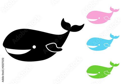 Icono plano ballena infantil varios colores - Buy this stock vector ...